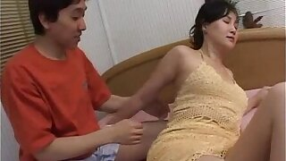 Asian milf gets down and dirty