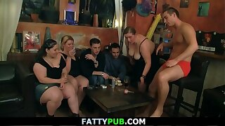Huge tits group striping and cock sucking