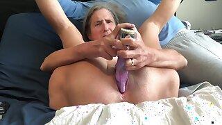 Hot MILF Pussy Gape Big Rabbit Masturbate Orgasm Close Up Mature Granny