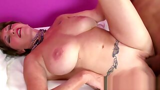 Naughty Granny Bangs a Big Cock