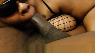 HARD BLACK COCK IN A HORNY EBONY MILFS MOUTH AND THICK WARM CUM SOON FLOWS FROM THE THICK SHAFT