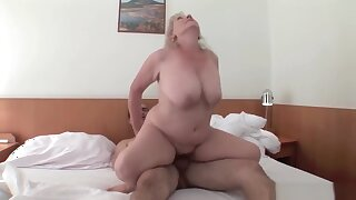 Goregeous Granny Cunt Fucks a Youger Guy
