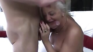 Old Young Grandma Blackmailed For Smoking By Grandson - watch more on adultx.club