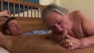 Massive granny gets anal from a young stud