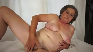 See her milk large dong and make him cum over her darksome bush