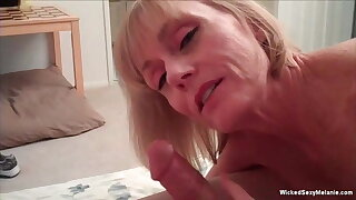 Threesome WithA mateur GILF and Friends