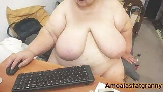 fat busty old woman