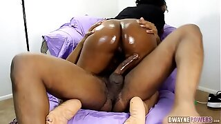 Black Granny Taking Cock Up Her Asshole