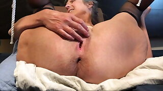 Horny Milf Enjoys Fingering Her Wet Pussy, Close Up