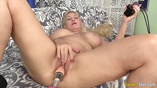 Golden Slut - Lustful Grannies Satisfied by Sex Machines Compilation