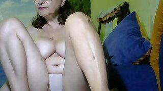 Grandma with big boobs on videochat