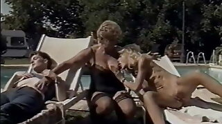 Vintage Family by the Pool