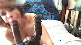 Mature Cougar seducing her Younger BBC lover. Dildo Solo