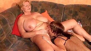 Busty Mom Has Lesbian Sex