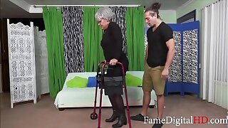 Horny Teen Fucks His Disabled Gandma- Kelly Leigh
