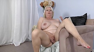 Hot chubby granny amazing solo video