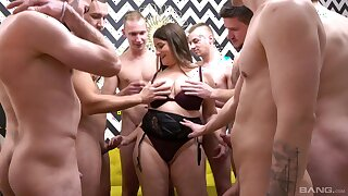 Iveta Takes Off Her Granny Panties And Takes On Multiple Cocks